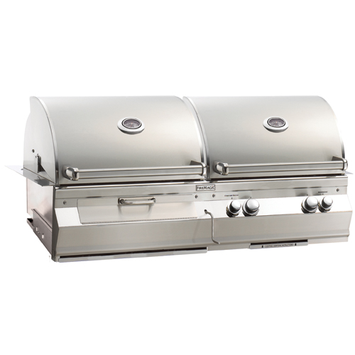 Fire Magic Aurora A830 Combo Gas/Charcoal Built-In Grill (Optional Rotisserie)