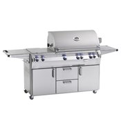 Fire Magic Analog Echelon Diamond Series E660 Cabinet Grill with Double Side Burner