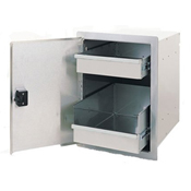 Fire Magic Legacy Single Access Door with Enclosed Dual Drawer