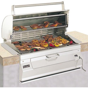 "Fire Magic Legacy Charcoal 24"" Built-In Grill with Oven Hood"
