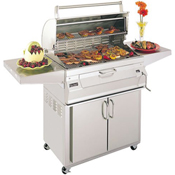 "Fire Magic Legacy Charcoal 24"" Portable Barbecue Grill with Oven Hood"
